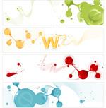 Link toBrush strokes banner vector