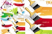 Link toBrushes and color painting vector