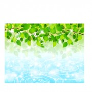 Link toBubble and tree leaves vector background 04 free