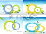 Link toBubble color ring background vector