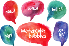 Link toBubble color watercolor language vector