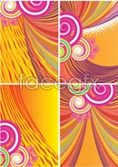 Bubbles circles background vector