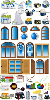 Link toBuilding door and window , vector