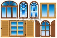 Building doors and windows building vector