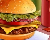 Link toBurgers and delicious psd