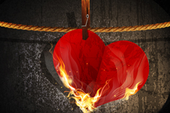 Link toBurning love background vector