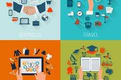 Link toBusiness and education travel logo design vector