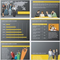 Link toBusiness and financial background ppt 01 vector