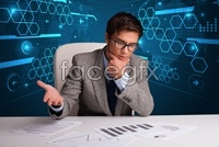 Link toBusiness and technology background high definition pictures