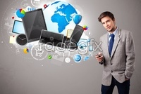 Link toBusiness background technology hd pictures