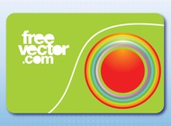 Link toBusiness card with circles vector free