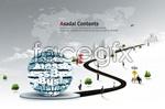 Link toBusiness channel concept psd