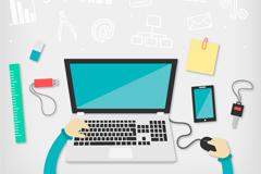 Business desk design vector