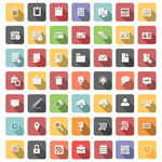 Business element icon vector
