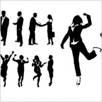 Link toBusiness figures silhouette psd layered