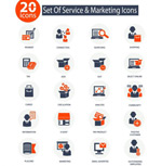 Link toBusiness finance icons vector