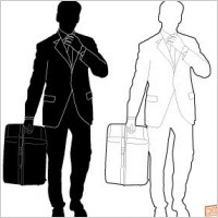 Link toBusiness man silhouette vector