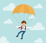 Link toBusiness man skydiving vector