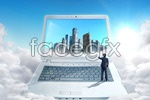 Link toBusiness notebook technology psd