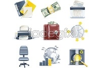 Link toBusiness office supplies icon vector