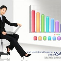 Link toBusiness people data chart psd layered 5