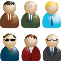 Link toBusiness people icon 02 vector