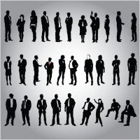 Link toBusiness people silhouette vector set