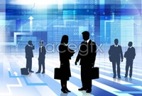 Business people talk hd silhouettes pictures