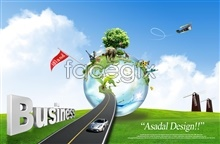 Link toBusiness posters, highway earth car elephant aircraft psd