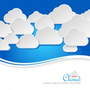 Link toBusiness social template with cloud backgrounds 04 free