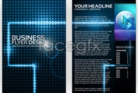 Link toBusiness technology flyer background vector graphics
