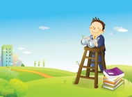 Business vision cartoon vector free