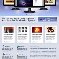 Link toBusiness website free psd template
