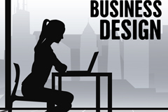 Link toBusiness women's silhouettes vector