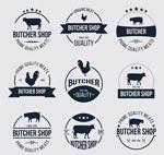 Link toButchers labels vector