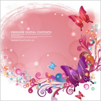 Link toButterflies and colorful background pattern vector