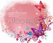 Link toButterflies and colorful patterned background vector