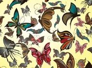 Link toButterflies vector pattern free