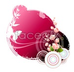 Link toButterfly and floral design 10 vector