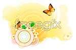 Link toButterfly and flower 7 vector