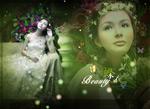 Butterfly dress wedding templates psd