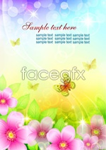 Link toButterfly flower text vector