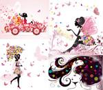 Link toButterfly flower women illustration vector