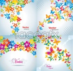 Link toButterfly mosaic background vector