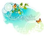 Butterfly pattern 16 vector