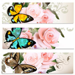 Link toButterfly roses banne vector