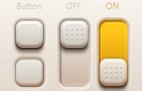 Link toButtons and switches psd
