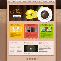 Link toCafe and restaurant template psd