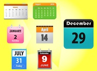 Link toCalendar icons vector free