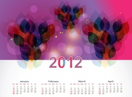 Link toCalendar layout template vector free